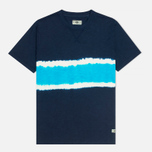 Мужская футболка Uniformes Generale Vintage Tie Dye Multi Stripe Navy фото- 0