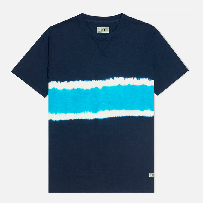 Мужская футболка Uniformes Generale Vintage Tie Dye Multi Stripe Navy