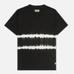 Мужская футболка Uniformes Generale Vintage Tie Dye Stripe Black фото- 0