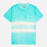 Мужская футболка Uniformes Generale Vintage Tie Dye Stripe Mint фото- 0