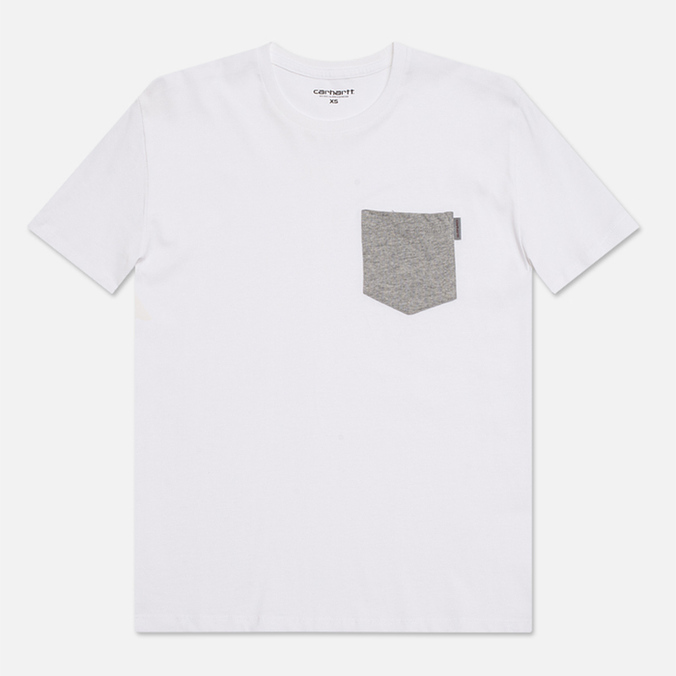 Женская футболка Carhartt WIP X' Contrast Pocket White/Grey Heather