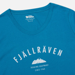 Женская футболка Fjallraven Trekking Equipment Lake Blue фото- 1