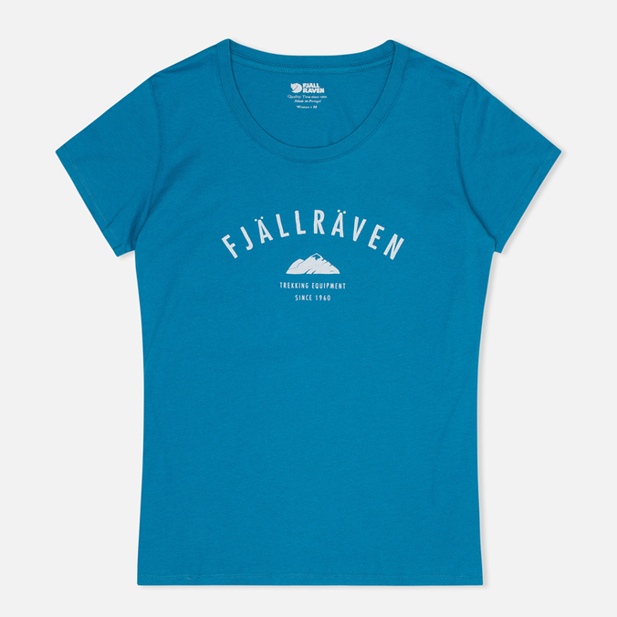 Женская футболка Fjallraven Trekking Equipment Lake Blue