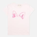 Женская футболка Maison Kitsune Crew Neck Print Fox Ears Light Pink фото- 0