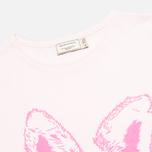 Женская футболка Maison Kitsune Crew Neck Print Fox Ears Light Pink фото- 1