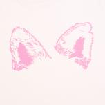 Женская футболка Maison Kitsune Crew Neck Print Fox Ears Light Pink фото- 3