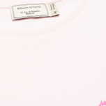 Женская футболка Maison Kitsune Crew Neck Print Fox Ears Light Pink фото- 2