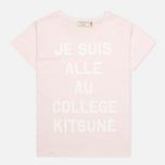 Женская футболка Maison Kitsune Crew Neck Print Je Suis Light Pink фото- 0
