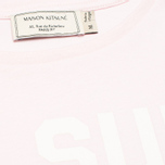 Женская футболка Maison Kitsune Crew Neck Print Je Suis Light Pink фото- 2