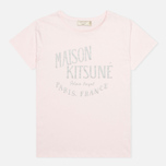 Женская футболка Maison Kitsune Crew Neck Print Palais Royal Light Pink фото- 0