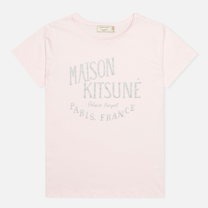 Женская футболка Maison Kitsune Crew Neck Print Palais Royal Light Pink