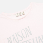 Женская футболка Maison Kitsune Crew Neck Print Palais Royal Light Pink фото- 1