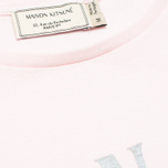 Женская футболка Maison Kitsune Crew Neck Print Palais Royal Light Pink фото- 2