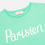 Maison Kitsune Crew Neck Print Parisien Women's T-shirt Green photo- 1