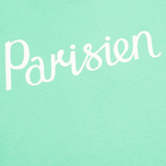 Maison Kitsune Crew Neck Print Parisien Women's T-shirt Green photo- 3