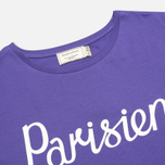 Женская футболка Maison Kitsune Crew Neck Print Parisien Purple фото- 1
