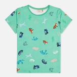Женская футболка Maison Kitsune Round Neck Childish Green фото- 0