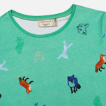 Женская футболка Maison Kitsune Round Neck Childish Green фото- 1