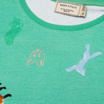 Женская футболка Maison Kitsune Round Neck Childish Green фото- 2