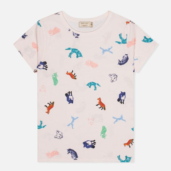 Женская футболка Maison Kitsune Round Neck Childish Light Pink