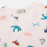 Женская футболка Maison Kitsune Round Neck Childish Light Pink фото- 1
