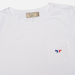 Maison Kitsune Round Neck Tricolor Patch Women's T-shirt White photo- 1