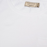 Женская футболка Maison Kitsune Round Neck Tricolor Patch White фото- 3