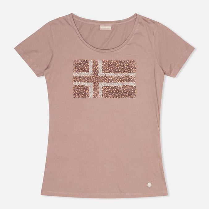 Женская футболка Napapijri Stanmore Mild Rose