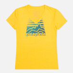Женская футболка Patagonia Distressed Logo Tupelo Yellow фото- 0