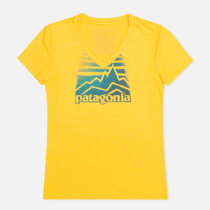 Женская футболка Patagonia Distressed Logo Tupelo Yellow