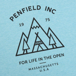 Женская футболка Penfield Teepee Sea Blue Melange фото- 2