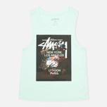 Женская футболка WT Floral Muscle Scoop Aqua фото- 0