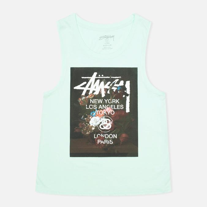 Женская футболка WT Floral Muscle Scoop Aqua