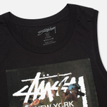 Женская футболка Stussy WT Floral Muscle Scoop Black фото- 1
