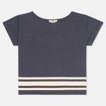 Женская футболка YMC Engineered Stripe Jersey Navy/Cream фото- 0