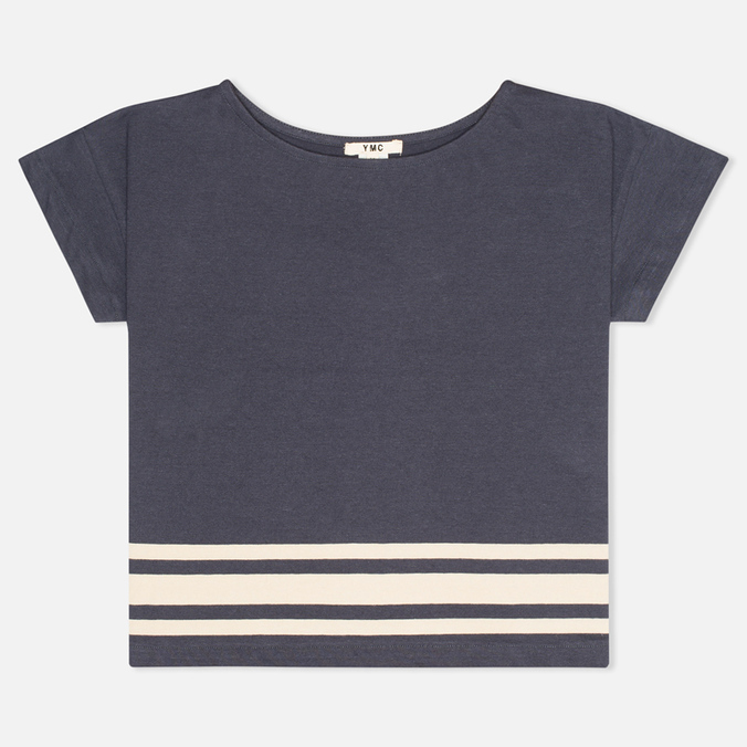 Женская футболка YMC Engineered Stripe Jersey Navy/Cream