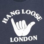 Женская футболка YMC Hang Loose London Navy фото- 2