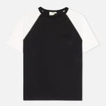 Женская футболка YMC Jersey Block Knit Black/White фото- 0