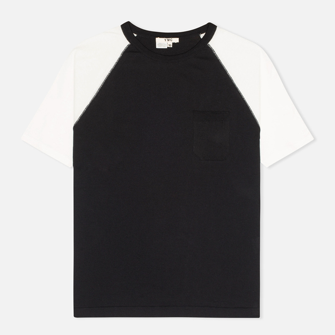 Женская футболка YMC Jersey Block Knit Black/White