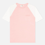 Женская футболка YMC Jersey Block Knit Pink/White фото- 0