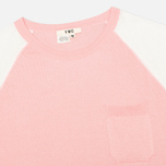 Женская футболка YMC Jersey Block Knit Pink/White фото- 1