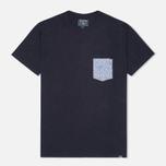 Мужская футболка Woolrich Printed Pocket Navy фото- 0
