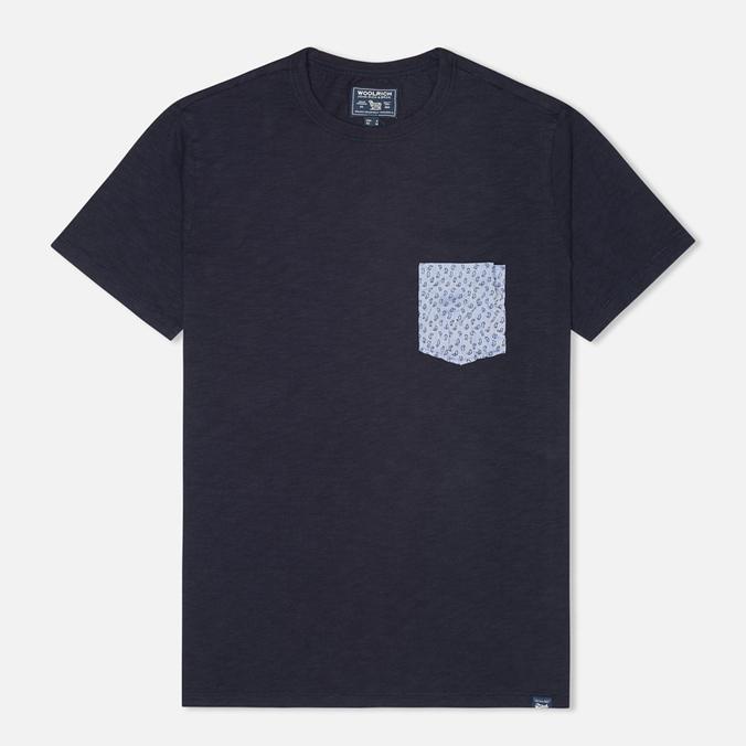 Мужская футболка Woolrich Printed Pocket Navy