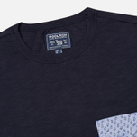 Woolrich Printed Pocket Men's T-shirt Navy photo- 1