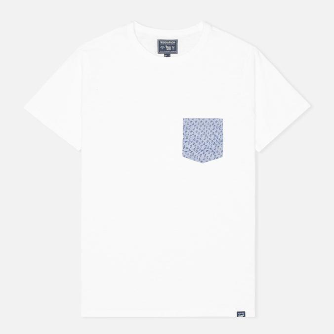 Мужская футболка Woolrich Printed Pocket White