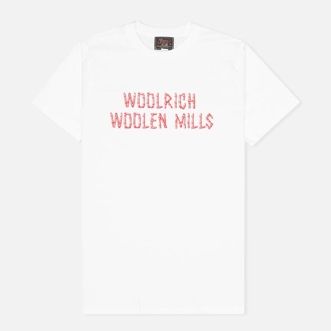 Мужская футболка Woolrich Woolen Mills Bamboo Print White