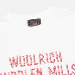 Мужская футболка Woolrich Woolen Mills Bamboo Print White фото- 1