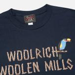 Мужская футболка Woolrich Woolen Mills Bamboo Print With Bird Navy фото- 1