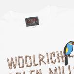 Мужская футболка Woolrich Woolen Mills Bamboo Print With Bird White фото- 1