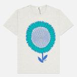 Мужская футболка YMC Flower Print Grey фото- 0